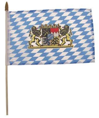Schreibtisch Fähnchen, Bayern mit Wappen, Plastikstiel, Gr. 10x15 cm Bayern