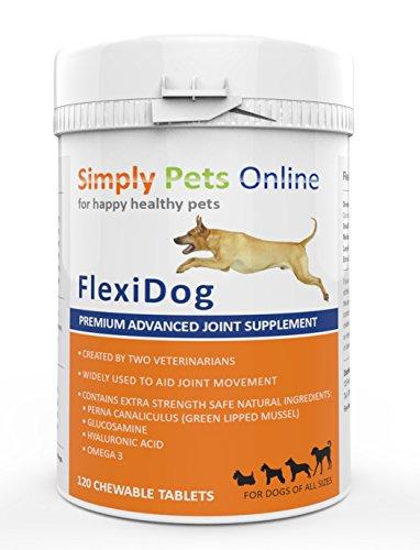 Complément Alimentaire pour Problèmes Articulaires du chien   Ce Supplément Soutient le Fonctionnement des Articulations   Soulage l'Arthrose des chiens   120 comprimés à croquer   Développé par des vétérinaires