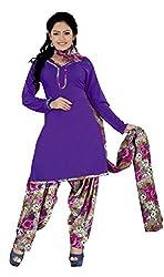 Khushali Presents Patiyala Dress Material(Purple,Multi)