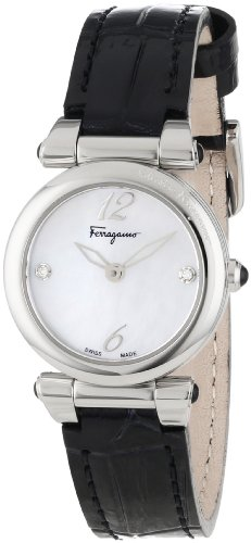 Ferragamo Women's F79SBQ9991I SB09 Poema Stainless Steel Mother-Of-Pearl Watch