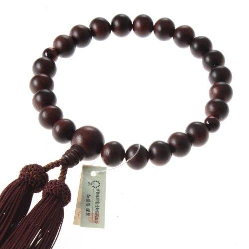Kyoto-Made Ojuzu Buddhist Prayer Beads, Tiger Eye Premium Stone X Shitan Wood With 100% Silk Tassel [ Made In Kyoto, Japan ] [ Hand-Made / Handcrafted Juzu Beads ] [ Zen Meditation ]
