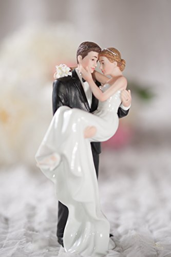 Groom Holding Bride Traditional Cake Topper Figurine