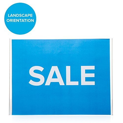 Landscape Commercial Sign: Wall Mounted Sign Holders 8.5 X 11 Acrylic Sign Holder Clear Plastic Velcro & Adhesive Portrait