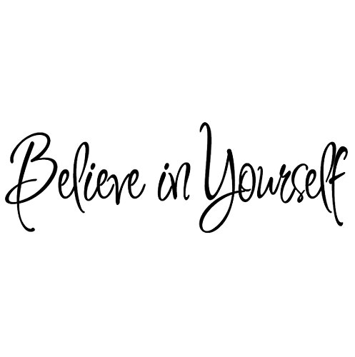 Believe in Yourself Decal Wall Quote Sayings Stickers Quotes Vinyl Inspirational Wall Decals Words Letters by VWAQ (Positive Wall Stickers compare prices)