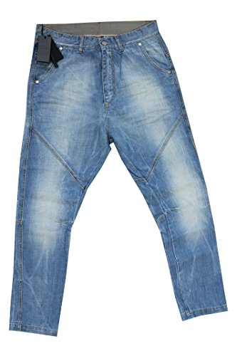 Paolo Pecora Jeans Uomo Lavaggio Chiaro Taglia 46