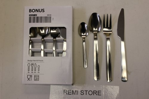 IKEA BONUS STAINLESS STEEL CUTLERY 16 PIECE SET
