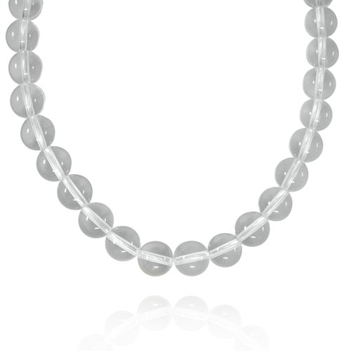 10mm Round Crystal Bead Necklace, 16+2