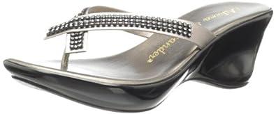 Athena Alexander Women's Roxi Sandal,Pewter,4 M US