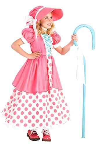 8eighteen Adorable Polka Dot Bo Peep Child Costume (Bo Peep Wig)