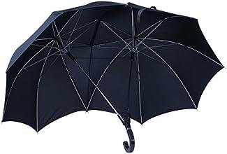 """VENKON - Design Automatik Doppel-Regenschirm """"Couple In The Rain"""" - für Freude zu zweit im Regen - Farbe: schwarz"""