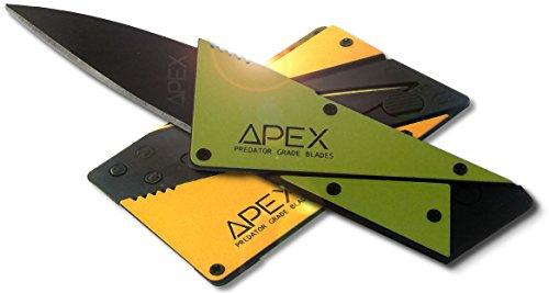 """PREDATOR GRADE BLADES"" Credit Card Knife - Scorpion Amber or Slime Green --Random Color Sent-- The Folding, Ergonomic, Tactical, Survival"