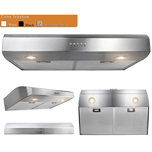 AKDY 30-inch OSURHW01SS-30-AK Stainless Steel Under Cabinet Mount Range Hood (Viking Grease Filter compare prices)