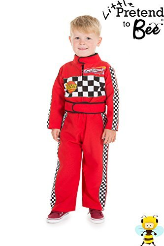 Childrens Boys Girls Red F1 Racing Car Driver Fancy Dress Costume 2 - 3 Years by Pretend to Bee (Racing Driver Costume)
