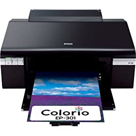 EPSON Colorio インクジェットプリンタ 6色染料インク EP-301