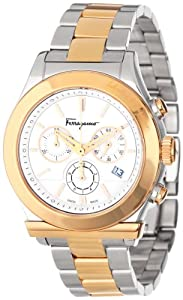 Salvatore Ferragamo Mens F78LCQ9501 S095 Salvaltore Round Stainless Steel Gold Ion-Plated Watch by Salvatore Ferragamo