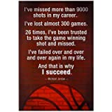 (13x19) Michael Jordan Succeed Quote Motivational Poster