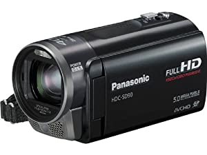 Panasonic HDC-SD90K 3D Compatible SD Memory Camcorder (Black) from Panasonic
