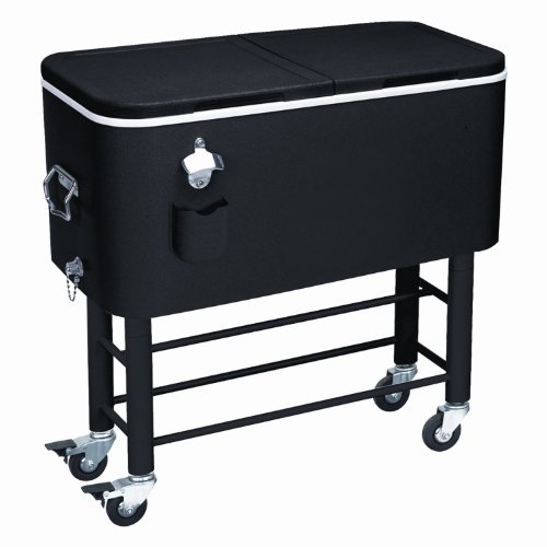 Rio Brands Entertainer Rolling Party Cooler (77 Quarts, Midnight Sands) (Beverage Cooler Stand compare prices)