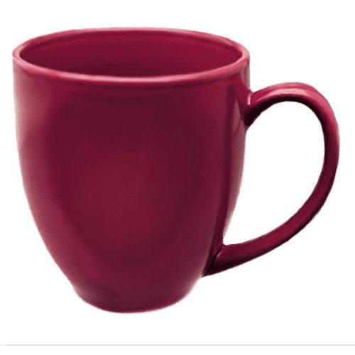 Set Of 4 - 16 Ounce Burgundy Bistro Mugs