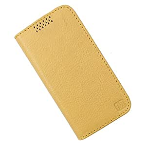 Dooda Genuine Leather Flip Case For HTC One E8 (YELLOW)