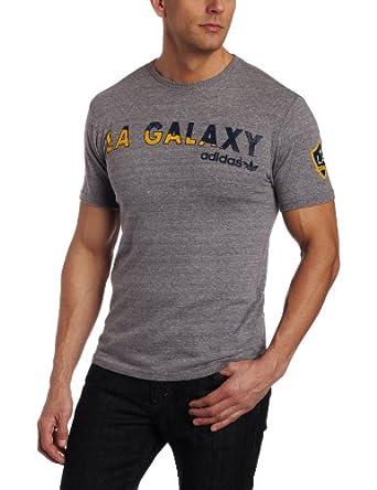 MLS Los Angeles Galaxy Celebration Tri-Blend Short Sleeve T-Shirt (Dark Grey Heathered, X-Large)
