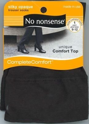 No-Nonsense Silky Trouser Socks Brown Plus (3-Pack)