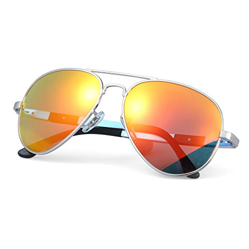 aff80a66d0 ATTCL® 2016 Hot Classic Aviator Driving Polarized Sunglasses For Men Women  16695silverred .