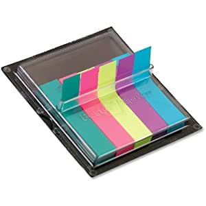Post-it Medical Flags, 3/8-Inches Wide,Solid Bright Colors, 375/Dispenser, 1-Dispenser/Pack
