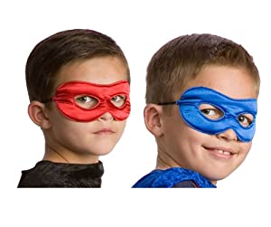 Little Adventures Superhero Costume Mask for Kids - Red/Royal
