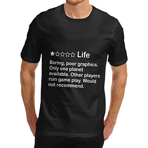 Men Cotton Novelty Funny Design One Star Life Rating T-Shirt