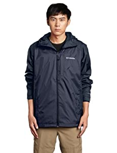 Columbia Men's Straight Line Rain Jacket, India Ink, Large