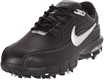 Nike Golf Men's Nike Air Rival Golf Shoe,Black/Metallic Silver,9.5 W US