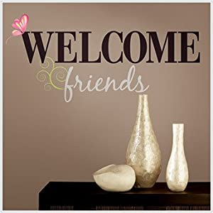 Amazon.com: WELCOME FRIENDS BiG Wall Stickers Quote Vinyl Decals