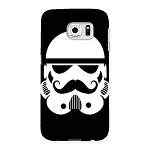 Delighted Mustach Black Back Case Cover for Samsung Galaxy S6