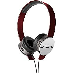 Sol Republic 1241-03 Tracks HD On-Ear Interchangeable Headphones with 3-Button Mic and Music Control - Red