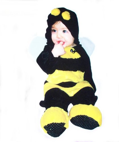 Infant One Piece Bumble Bee Dress Up Jumper Costume