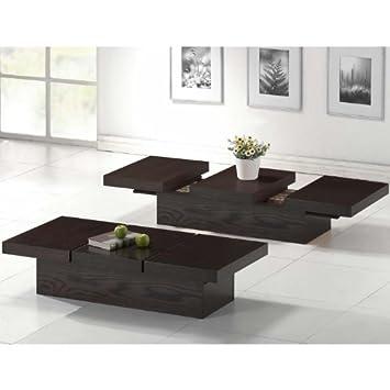 Baxton Studio Cambridge Brown Wood Modern Coffee Table with Hidden Storage
