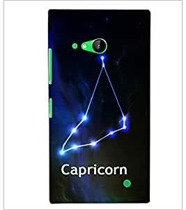 PrintDhaba Zodiac Capricorn D-2810 Back Case Cover for NOKIA LUMIA 730 (Multi-Coloured)