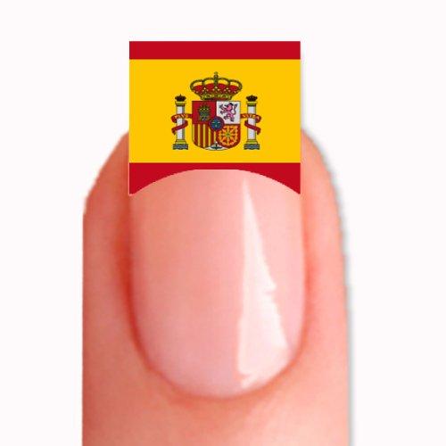 FRENCH Nailsticker Nail Tattoo Sticker WM 2014 Fussball Weltmeisterschaft WM-36 Spanien