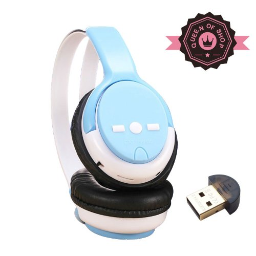 5800 Bluetooth Blue Bluetooth Headphones With Built-In Mic And 12 Hour Battery 2014 New Release A2Dp Sports & Exercise Handsfree Earphones Earpieces For Iphone 5S 5C 4S 4,Ipad 2 3 4 New Ipad, Ipod, Android, Samsung Galaxy, Smart Phones Bluetooth Devices