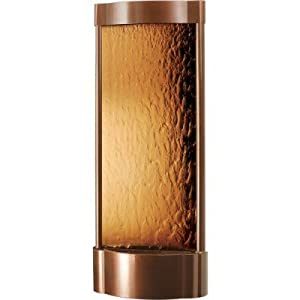 Serrano Ceramic Vertical Wall Fountain Color: Dark Copper Frame / Bronze Mirror