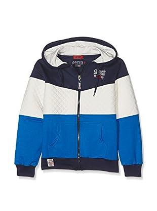 Aspen Polo Club Sudadera con Cierre PC31F984 (Azul Marino / Blanco / Azul Royal)