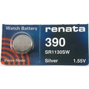 Renata Silver Oxide Watch Battery For Renata 390 Button Cell