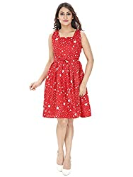 Franclo Women's Frock Dress (red)
