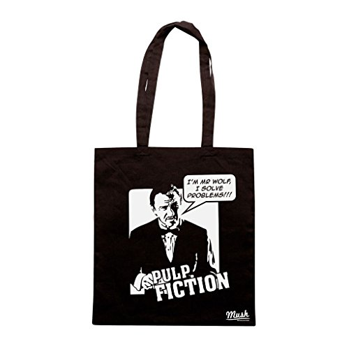 Borsa I'M Mr Wolf I Solve Problems Pulp Fiction - Nera - Film by Mush Dress Your Style