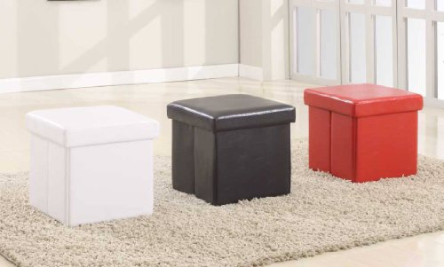Modus Furniture 5G0892A Urban Seating Folding Storage Cube, Chocolate Leatherette