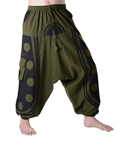 bellissimo-goapants-uomo-in-punto-design-hippie-flamboyant-harem-pantaloni-army-green-schwarz-xxl