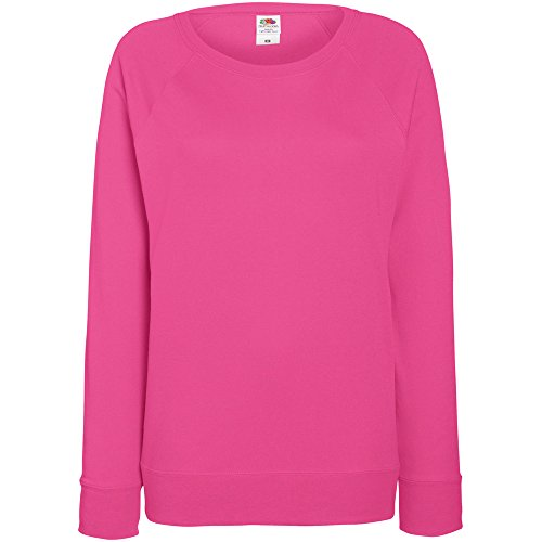 Fruit Of The Loom Women's SS072M Long Sleeve Sweatshirt, Pink (Fuchsia), 14 (Manufacturer Size:Large)