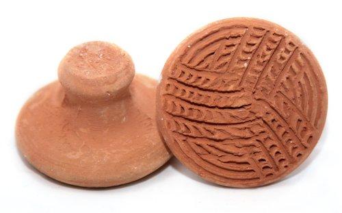 Handmade Terracotta or Clay Pumice Stone, Foot Scrub, Linear Pattern
