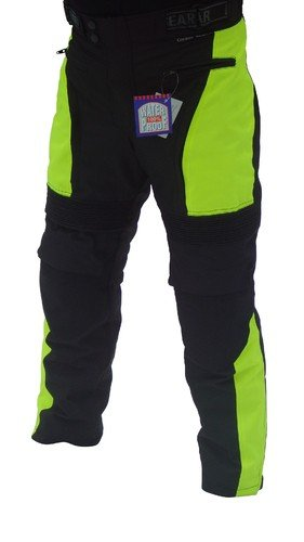Australian Bikers Gear High Visibility Waterproof Thermal Armoured Motorcycle Trousers Size (32S)